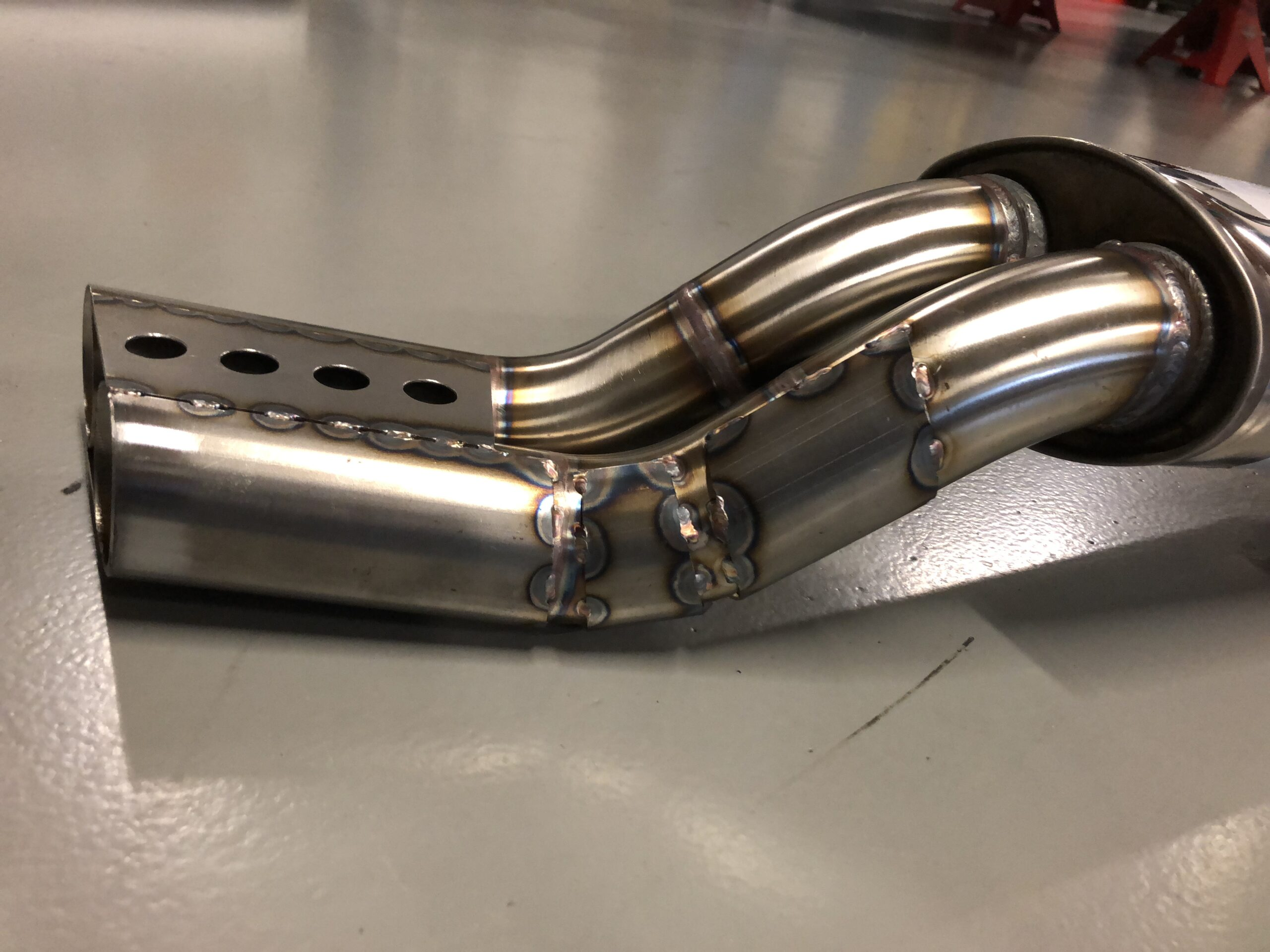 Stainless steel sidepipe
